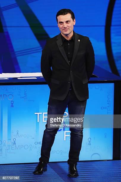 Milan coach Vincenzo Montella attends 'Che Tempo Che Fa' Tv Show on December 4 2016 in Milan Italy