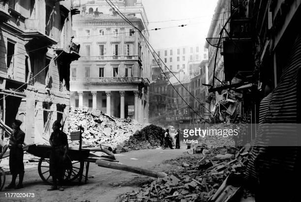 Milan. Corso vittorio emanuele. Second world war. 1939-45.