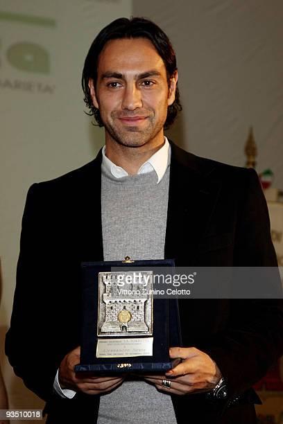 Milan defender Alessandro Nesta receives 'La Torretta' Sport Award on November 30 2009 in Sesto San Giovanni Italy