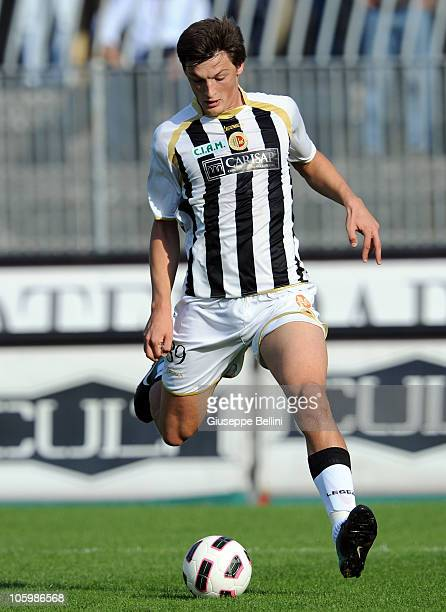 Milan Djuric of Ascoli in action during the Serie B match between Ascoli and Cittadella at Stadio Cino e Lillo Del Duca on October 23 2010 in Ascoli...