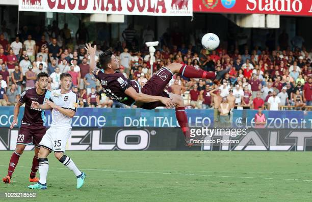 Milan Djuric of US Salernitana in action during the Serie B match between US Salernitana and US Citta di Palermo on August 25 2018 in Salerno Italy