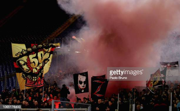 Milan fans during the Serie A match between SS Lazio and AC Milan at Stadio Olimpico on November 25 2018 in Rome I taly