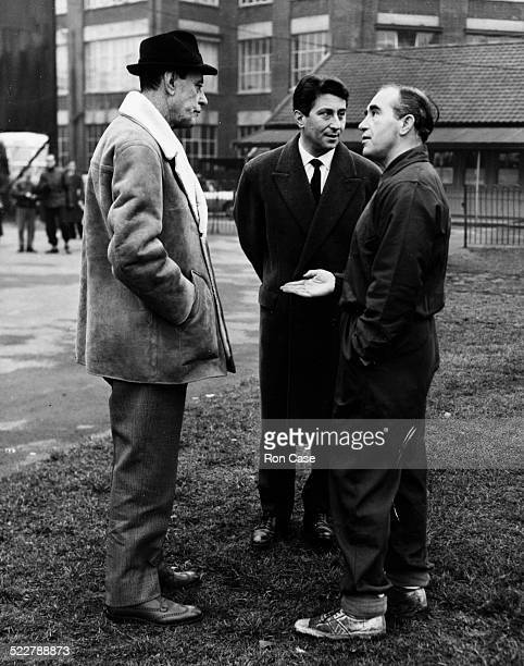 Milan Football Club training for their upcoming match against Ipswich Mr Carossio of Italian Television Secretary of Milan FC Mr Passalacqua and...