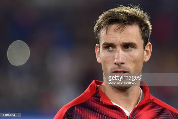 Milan football player Lucas Biglia during the match Roma-Milan in the Olimpic stadium. Rome , October 28th, 2019