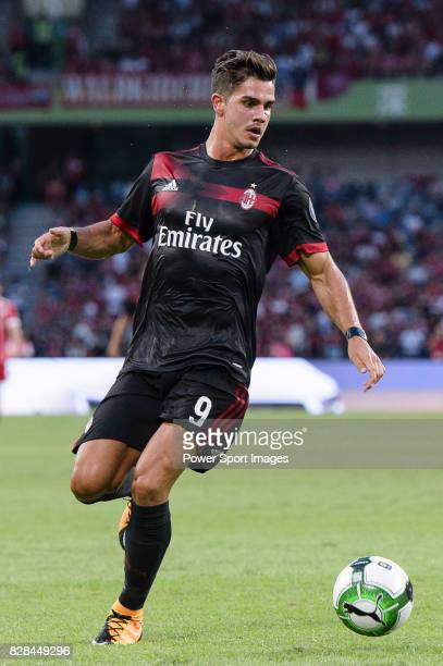 Milan Forward Andre Silva in action during the 2017 International Champions Cup China match between FC Bayern and AC Milan at Universiade Sports...