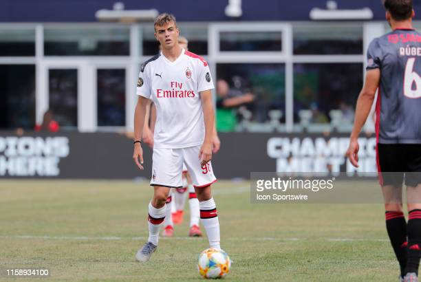 Milan forward Daniel Maldini during an International Champions Cup match between AC Milan of Italy and SL Benfica of Portugal on July 28 at Gillette...