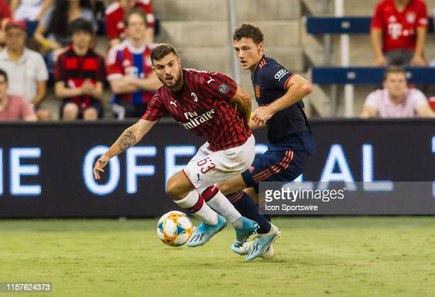 Milan forward Patrick Cutrone makes a break toward the ball during the match between FC Bayern and AC Milan on Tuesday July 22 2019 at Children's...