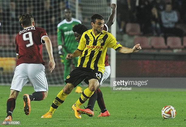 Milan Gajic of BSC Young Boys in action during the UEFA Europa League Group I match between AC Sparta Praha and BSC Young Boys at the Stadion Letna...