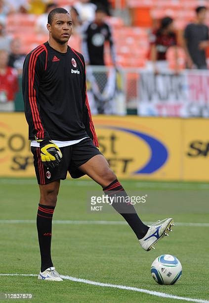 AC Milan goalkeeper Dida warms up before an international friendly against DC United at RFK Stadium in Washington DC Wednesday May 26 2010