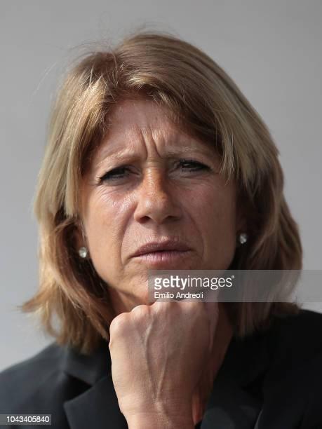 Milan head coach Carolina Morace looks on during the Serie A match between AC Milan Women and Fiorentina Women at Campo Sportivo Vismara on September...