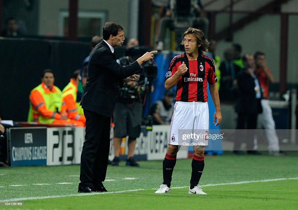AC Milan v AJ Auxerre - UEFA Champions League : ニュース写真
