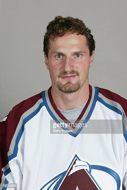 Milan Hejduk of the Colorado Avalanche poses for a portrait on September 1 2002 at the Pepsi Center in Denver Colorado