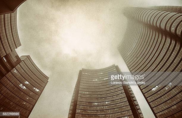 Milan in the fog (Piazza Gae Aulenti)