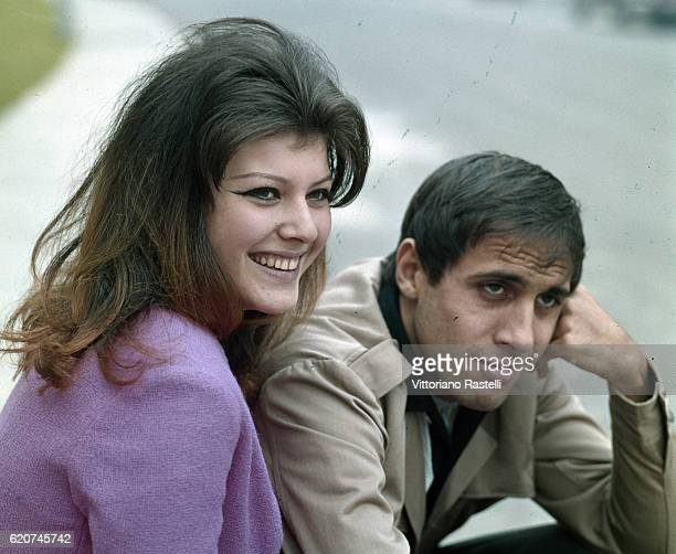 Milan Italy 12 October 1965 The actress Claudia Mori with her husband Adriano Celentano Adriano Celentano is a singersongwriter dancer television...