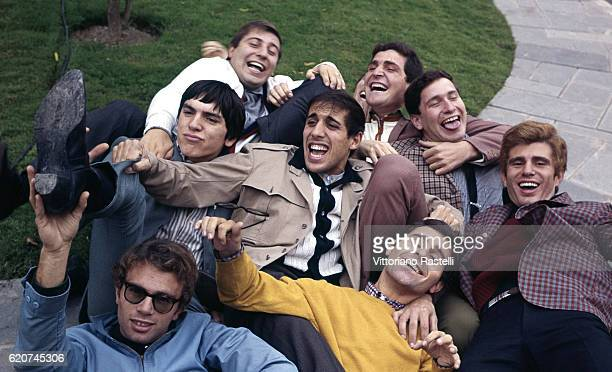 Milan Italy 12 October 1965 The singer Adriano Celentano with his clan Adriano Celentano is a singersongwriter dancer television host actor director...