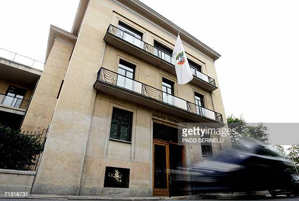 A view shows the Juventus' soccer club offices where a longtime Juventus defender Gianluca Pessotto fell from in Turin 28 June 2006 Pessotto 35 years...