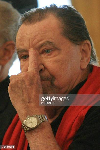 French choreographer Maurice Bejart attends a press conference to present Thank You Gianni with Love at the La Scala opera house in Milan 14 July...