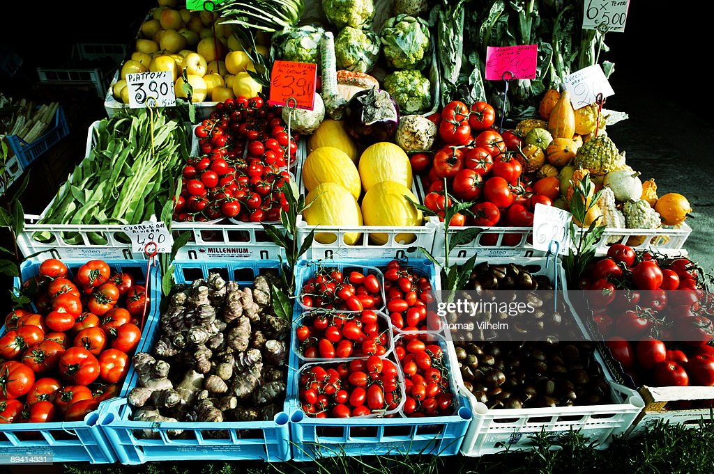 Milan. Italy. Greengrocer.