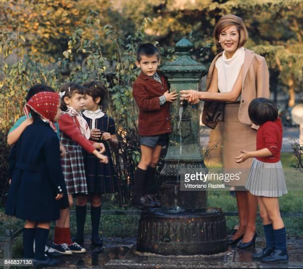 Milan Italy October 1965 The Italian actress Lauretta Masiero