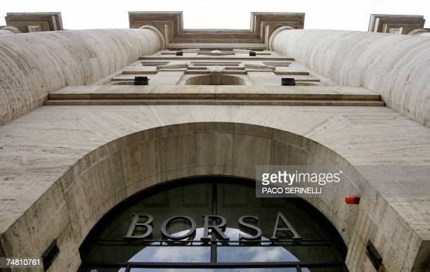 Picture taken 06 June 2006 in Milan of the Italian stock market Borsa 'Further to recent press speculation London Stock Exchange Group confirms that...