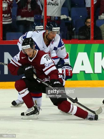 Milan Jurcina of Slovakia and Miks Indrasis of Latvia ...