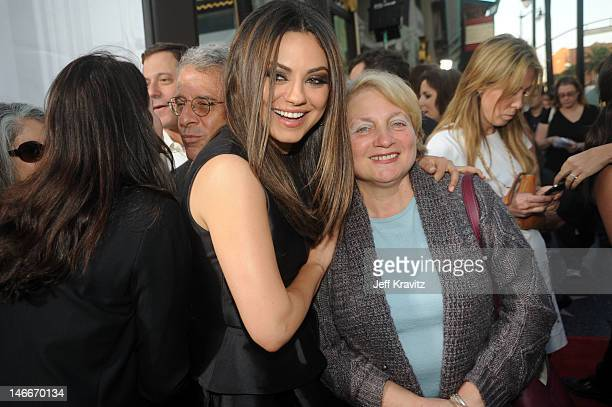 Milan Kunis and Elvira Kunis arrives for the premiere of Ted at Grauman's Chinese Theatre on June 21 2012 in Hollywood California