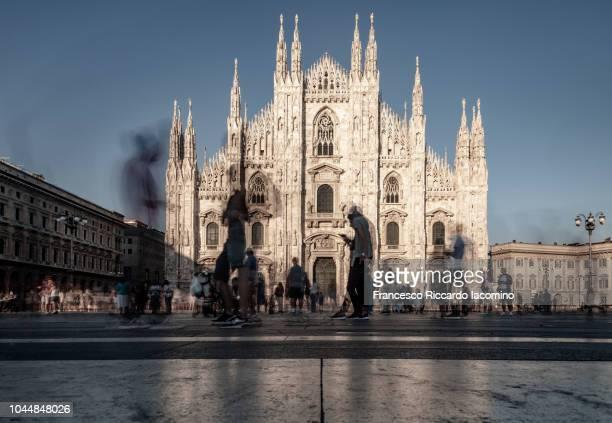 Milan, Lombardia, Italy. Duomo cathedral, long exposure
