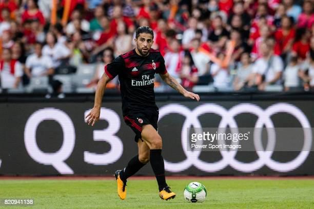 Milan Midfielder Ricardo Rodriguez in action during the 2017 International Champions Cup China match between FC Bayern and AC Milan at Universiade...