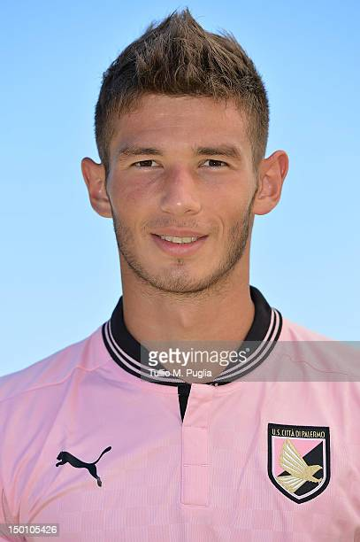 Milan Milanovic of US Citta di Palermo poses during a portrait session for the team's official headshots at Campo Tenente Onorato on August 10 2012...
