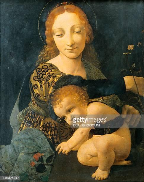 Milan Museo Poldi Pezzoli Madonna with Child by Giovanni Antonio Boltraffio