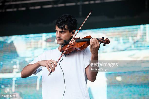 Milan Neil AminSmith of Clean Bandit performs on stage at Kendal Calling Festival at Lowther Deer Park on August 3 2014 in Kendal United Kingdom