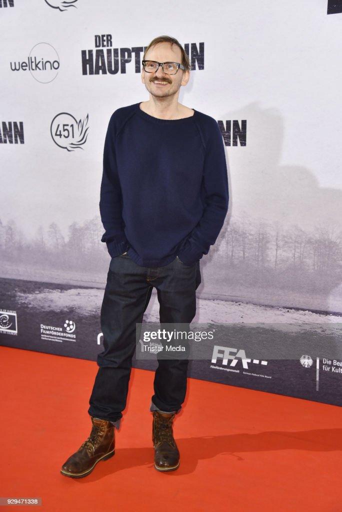 Milan Peschel attends the premiere of 'Der Hauptmann' at Kino International on March 8, 2018 in Berlin, Germany.