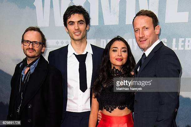 Milan Peschel Nik Xhelilaj Iazua Larios and Wotan Wilke Moehring attend the 'Winnetou Eine neue Welt' premiere at Delphi on December 14 2016 in...