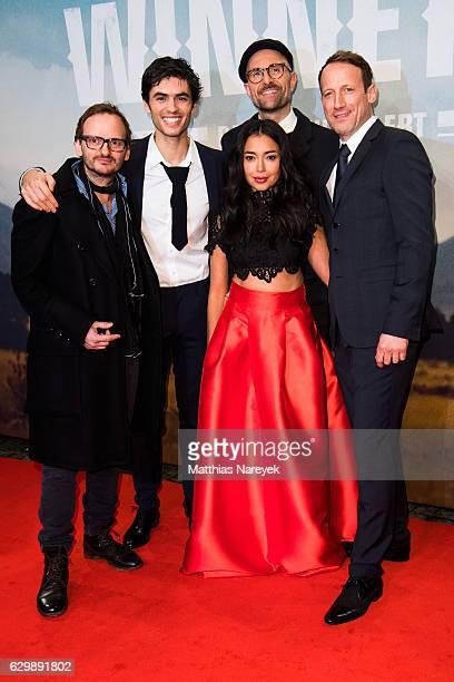 Milan Peschel Nik Xhelilaj Iazua Larios director Philipp Stoezel and Wotan Wilke Moehring attend the 'Winnetou Eine neue Welt' premiere at Delphi on...