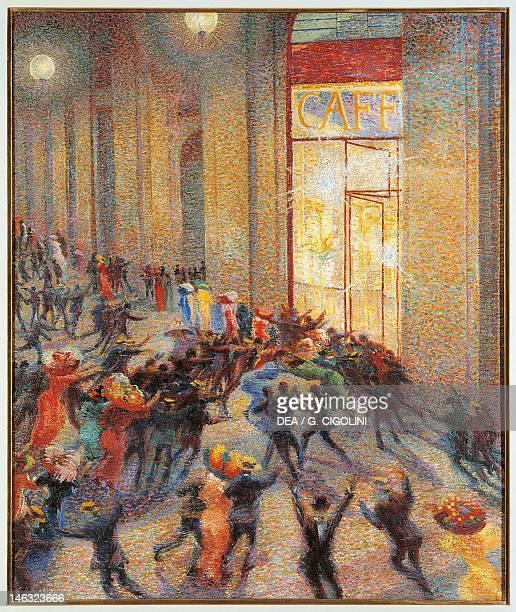 Milan Pinacoteca Di Brera Brawl in the gallery by Umberto Boccioni oil on canvas 76x64 cm