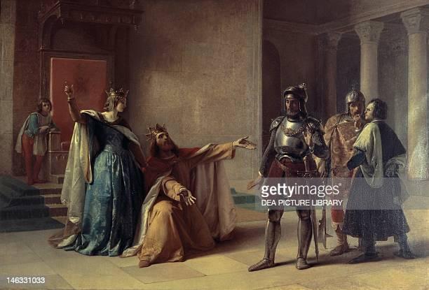 Milan Pinacoteca Di Brera Federico Barbarossa and Duke Henry the Lion in Chiavenna by Filippo Carcano