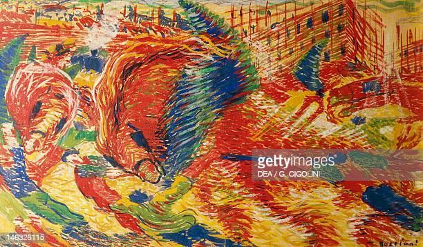 Milan Pinacoteca Di Brera The City Rises by Umberto Boccioni