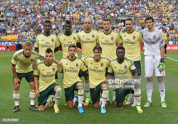 AC Milan pose before a Champions Cup match against Manchester City at Heinz Field in Pittsburgh on July 27 2014 Standing from L to R Kevin Constant...