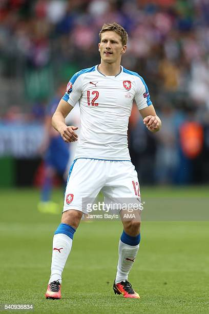 Milan Skoda of Czech Republic in action during the UEFA EURO 2016 Group D match between Czech Republic and Croatia at Stade GeoffroyGuichard on June...