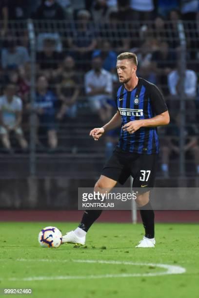 CORNAREDO LUGANO SWITZERLAND Milan Skriniar of FC Inter during match 110 Summer Cup from FC Lugano and FC Internazionale Milano Fc Internazionale won...