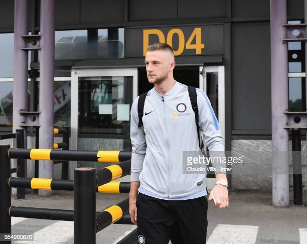 Milan Skriniar of FC Internazionale departs to Udine on May 5 2018 in Milan Italy