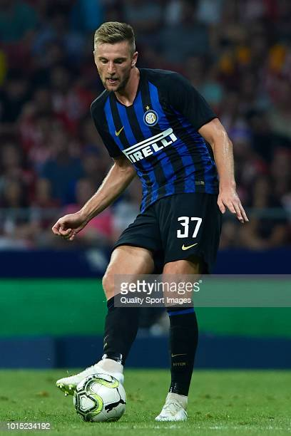 Milan Skriniar of FC Internazionale in action during the International Champions Cup 2018 match between Atletico de Madrid and FC Internazionale at...