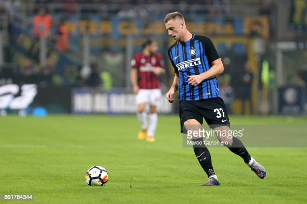 Milan Skriniar of FC Internazionale in action during the Serie A match between FC Internazionale and AC Milan Fc Internazionale wins 32 over Ac Milan