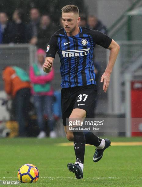 Milan Skriniar of FC Internazionale in action during the Serie A match between FC Internazionale and Torino FC at Stadio Giuseppe Meazza on November...