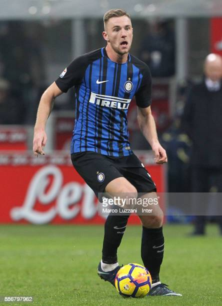 Milan Skriniar of FC Internazionale in action during the Serie A match between FC Internazionale and AC Chievo Verona at Stadio Giuseppe Meazza on...