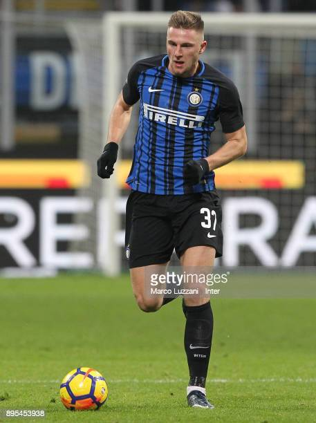 Milan Skriniar of FC Internazionale in action during the Serie A match between FC Internazionale and Udinese Calcio at Stadio Giuseppe Meazza on...