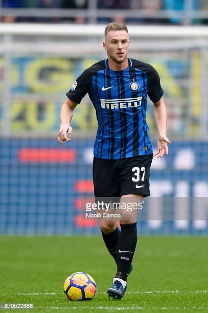 Milan Skriniar of FC Internazionale in action during the Serie A football match between FC Internazionale and Torino FC The match ended in a 11 tie