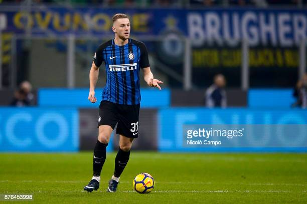 Milan Skriniar of FC Internazionale in action during the Serie A football match between FC Internazionale and Atalanta BC FC Internazionale won 20...