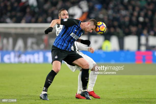 Milan Skriniar of FC Internazionale in action during the Serie A match between Juventus Fc and Fc Internazionale The match ended in a 00 tie