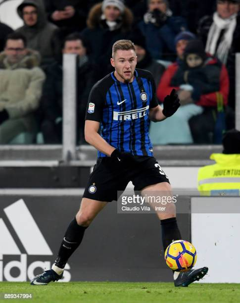 Milan Skriniar of FC Internazionale in action during the Serie A match between Juventus and FC Internazionale on December 9 2017 in Turin Italy